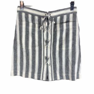 Madewell Striped Lace-Up Skirt 00